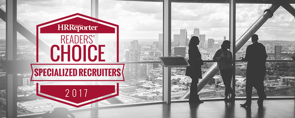 Canadian HR Reporter - Reader's Choice Awards - Specialized Recruiter
