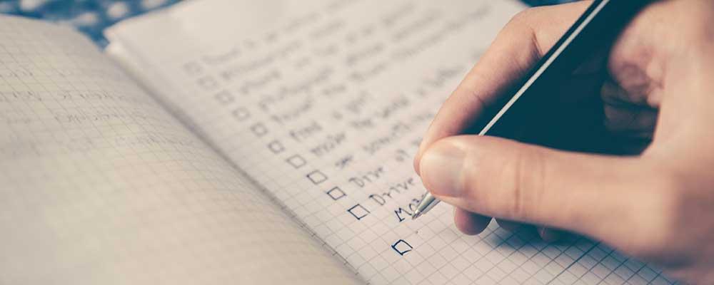 internship checklist