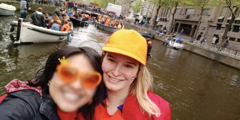 Marlies in Amsterdam