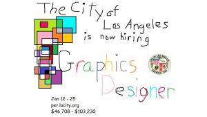 City of Los Angeles job advertisement for graphics designer