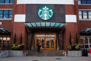 front of Starbucks store